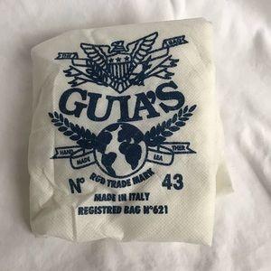 Guia's Bags - Beautiful Italian White leather tote.